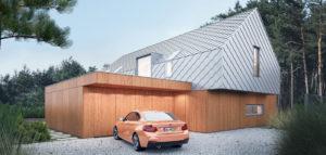 Dom pod lasem projektu pracowni INOSTUDIO architekci
