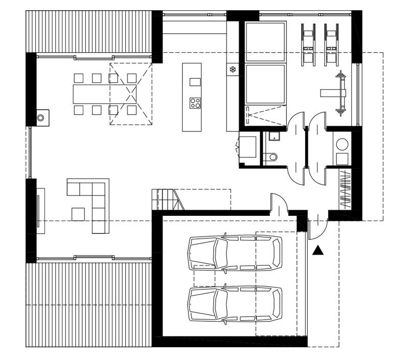 Dom pod lasem w Katowicach. Projekt:INOSTUDIO architekci