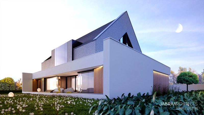 Dom w Wilkszynie. Projekt: JABRAARCHITECTS