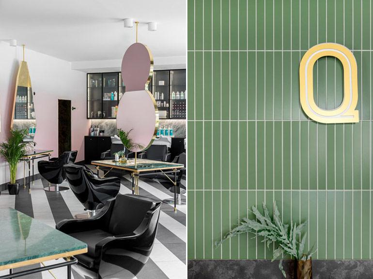Salon hair&beauty QUIRIS w Gdańsku. Projekt wnętrz: JT Grupa. Zdjęcia: Ayuko Studio