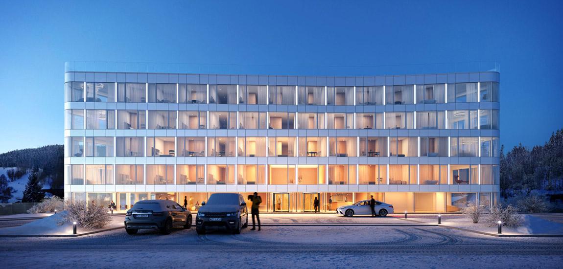 Hotel Biała Perła, Sienna. Projekt:Q2Studio. Wizualizacje:BLOK studio