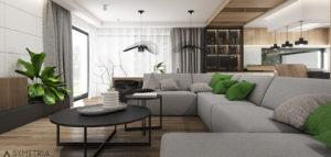 W tej przestrzeni drewno odgrywa główną rolę – wnętrza domu pracowni SYMETRIA