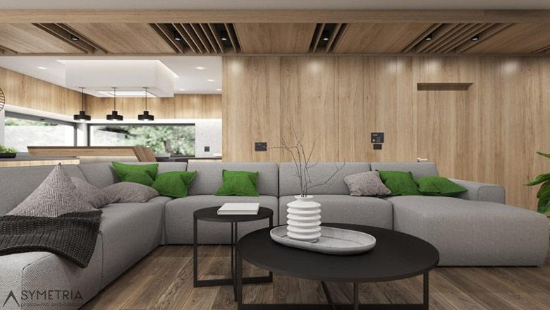 Wnętrze domu jednorodzinnego, Piotrków Kujawski. Projekt: SYMETRIA Pracownia Architektury