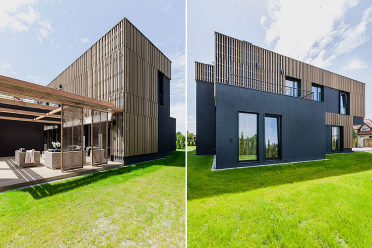 Dom w otulinie parku krajobrazwego. Projekt: ZONA Architekci. Zdjęcia: PION