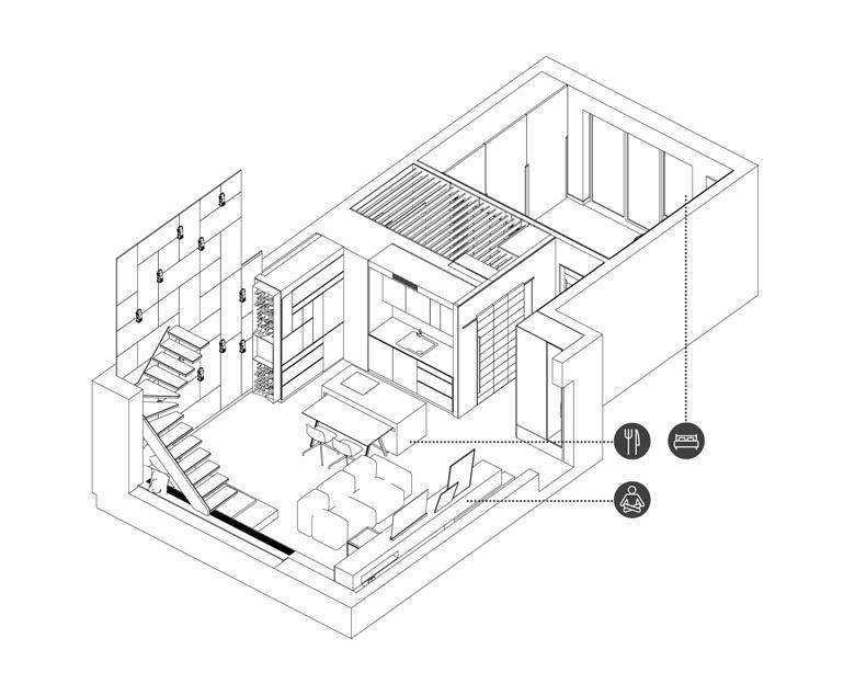 Apartament dla mężczyzny. Projekt wnętrz: ZONA Architekci