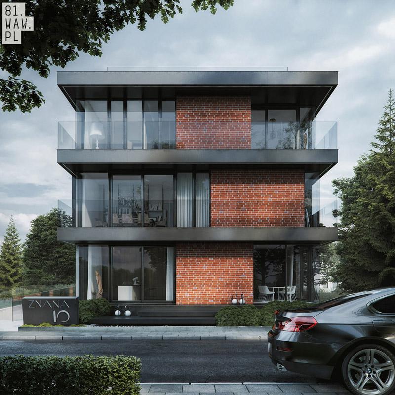 """Budynek mieszkalny """"Dom Czerwony"""". Projekt:81.WAW.PL"""