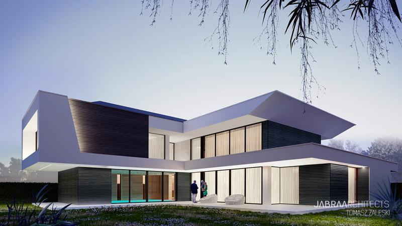 """Projekt domu """"Edge House"""" w Rabowicach pod Poznaniem. Autor:JABRAARCHITECTS"""
