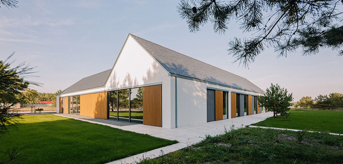 Dom Atrialny. Autorzy: Biuro projektowe maxberg – architekt Karol Nieradka. Zdjęcie: Sylwia Gudaczewska