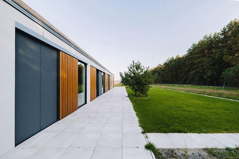Dom Atrialny. Autorzy: Biuro projektowe maxberg – architekt Karol Nieradka.