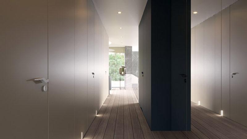 Projekt wnętrz domu Circle Wood, Warszawa. Pracownia: Mobius Architekci Przemek Olczyk