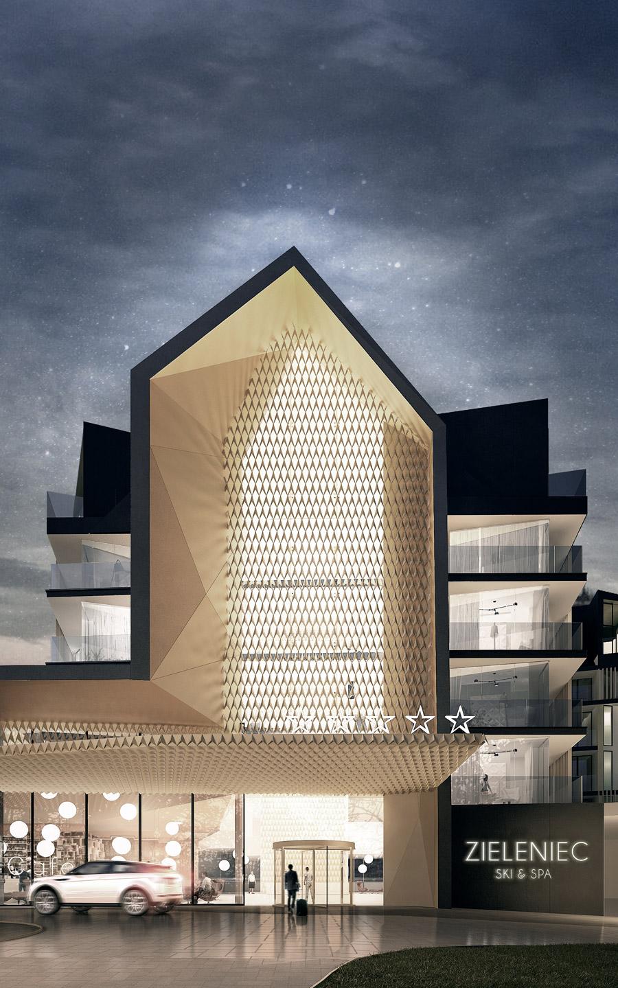 Hotel INFINITY w Zieleńcu. Projekt architektoniczny:Q2Studio
