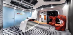 Futurystyczne wnętrza biura pracowni Massive Design