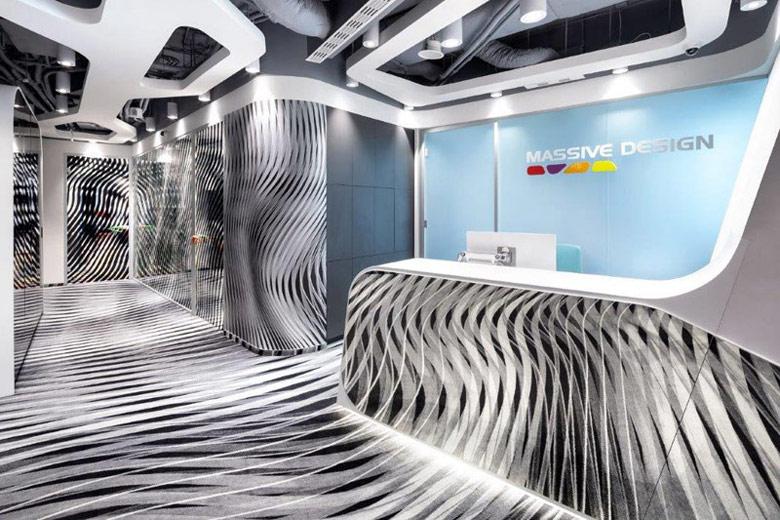 Wnętrza biur pracowni Massive Design w Warszawie