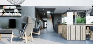Wnętrza domu w górach pracowni 081 Architekci