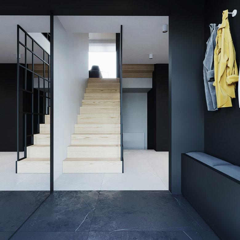 Wnętrza domu w Milanowie. Projekt:081 Architekci