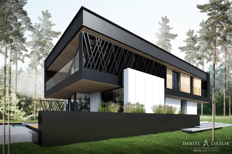 Dom 154, Warszawa, Wawer. Projekt: ANTA Architekci Daniel Cieślik