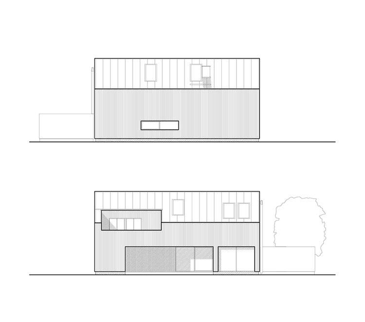Dom w Czeladzi. Projekt: be3 pracownia projektowa   Krzysztof Stępień