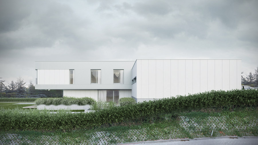 Dom na skarpie w Czerwonaku. Projekt: ENDE | Marcin Lewandowicz