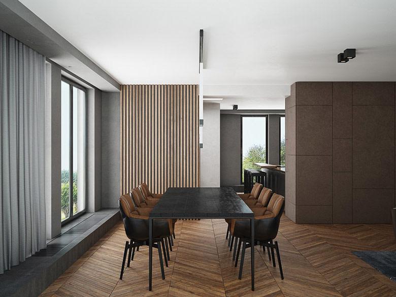Wnętrza apartamentu w Krakowie. Projekt:Exit Design