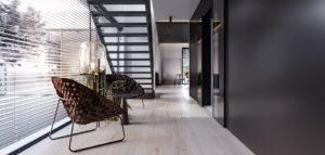 Bogate zestawienie faktur i subtelne akcenty – wnętrza domu projektu Hi-Light Architects