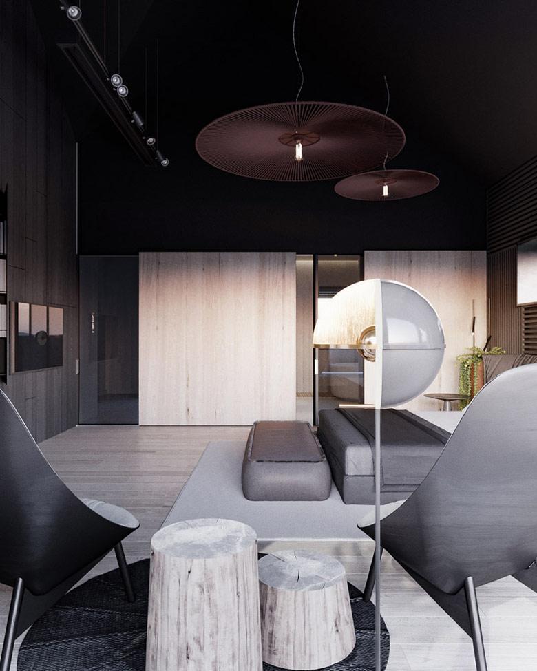Wnętrza domu w Krakowie. Projekt: Hi-Light Architects