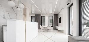 Instytut Piękna – wnętrza gabinetów kosmetologii projektu biura LOFFT Architektura