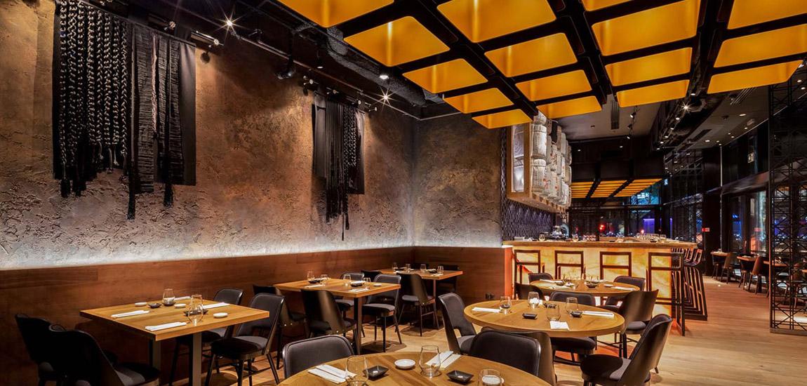Restauracja Wabu – Sushi & Japanese Tapas, Warszawa. Projekt wnętrz: Robert Majkut Design. Zdj. Szymon Polański