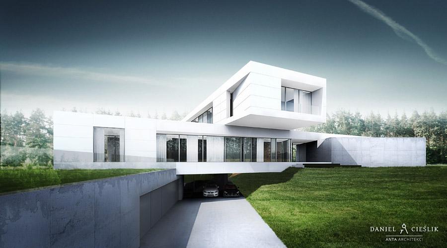 Dom jednorodzinny w Żarkach. Projekt: ANTA Architekci Daniel Cieślik
