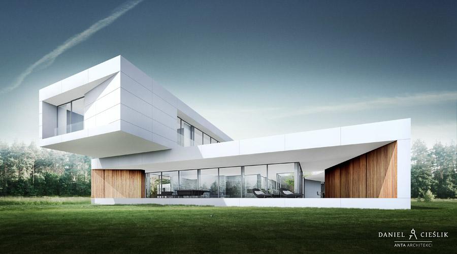Odważna i efektowna forma domu w Żarkach projektu ANTA Architekci