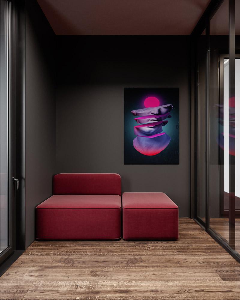 Wnętrza domu w Krakowie. Projekt: hilight design