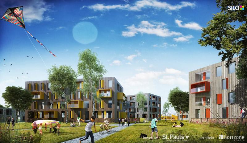 Zielone Jaworzno - dzielnica XXI wieku. Osiedle SILO projektu HORIZONE Studio