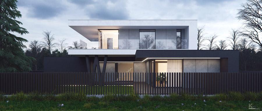 Dom Podparty w Warszawie. Projekt: KONZEPT Architekci
