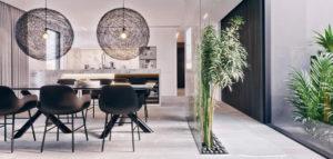 Eleganckie wnętrza apartamentu z własnym atrium biura KONZEPT Architekci