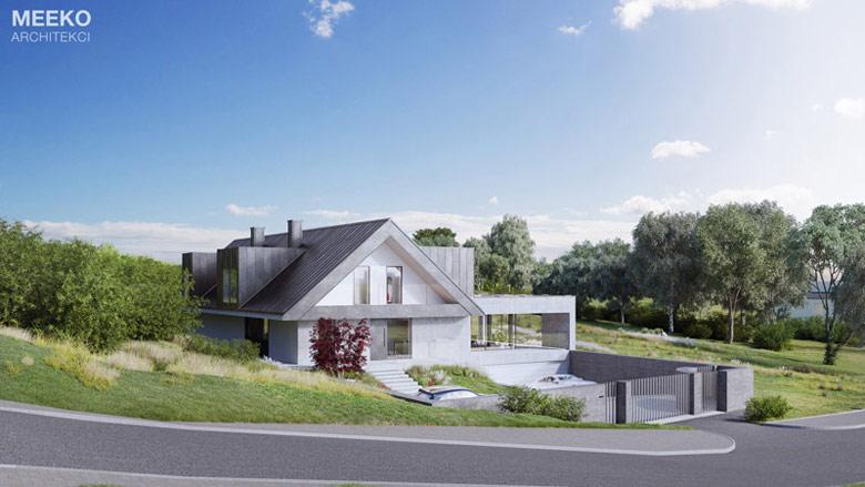 Dom w Kobylanach pod Krakowem. Projekt: Tomasz Janiec, Kamila Fijałkowska-Janiec / MEEKO Architekci