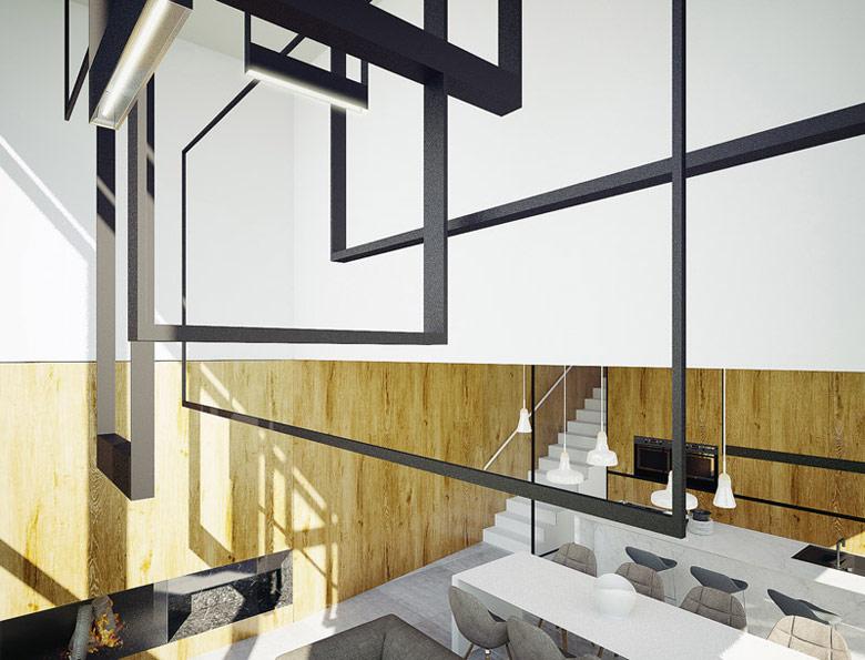 Wnętrza domu w Krakowie. Projekt: MUS ARCHITECTS