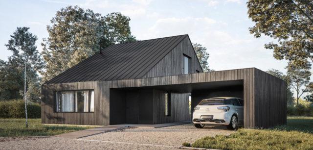 Prosty i ekonomiczny dom w Podkowie Leśnej pracowni EXTERIO