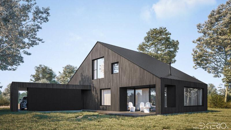Dom w Podkowie Leśnej. Projekt: Pracownia Architektury EXTERIO