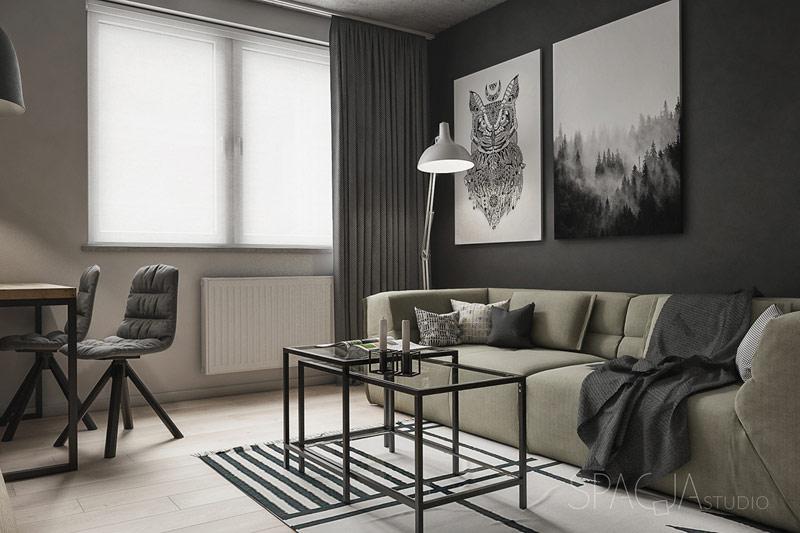 Mieszkanie w Rudzie Śląskiej. Projekt wnętrz:Spacja Studio