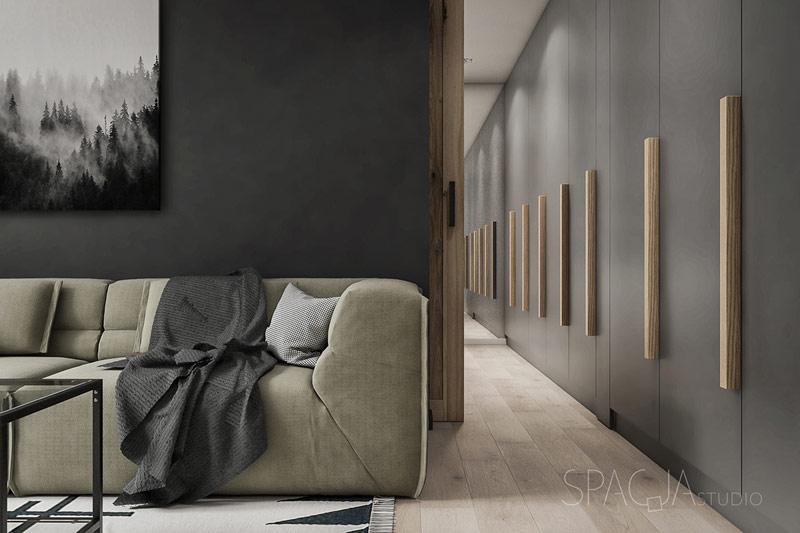 Mieszkanie w Rudzie Śląskiej. Projekt wnętrz: Spacja Studio