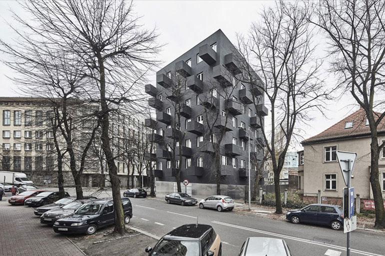 Budynek mieszkalny Unikato, Katowice. Projekt: Robert Konieczny | KWK Promes. Zdjęcie: OLO Studio