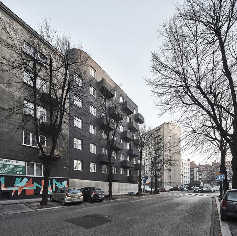 Budynek mieszkalny Unikato, Katowice. Projekt:Robert Konieczny | KWK Promes. Zdjęcie: OLO Studio