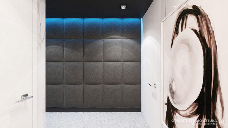 "Apartament ""Blue Lagoon"", Wiślane Tarasy 2.0, Kraków. Projekt wnętrz: OSS – Otwarte Studio Sztuka | Dominik Respondek"