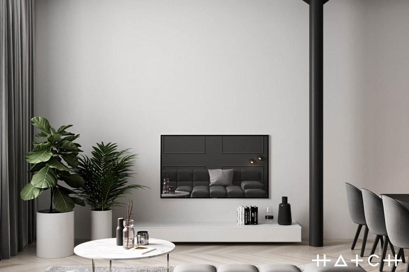 Wnętrza loftu w Łodzi. Projekt: HATCH Studio