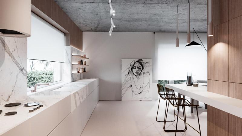Wnętrza domu w Rzeszowie. Projekt:hilight.design