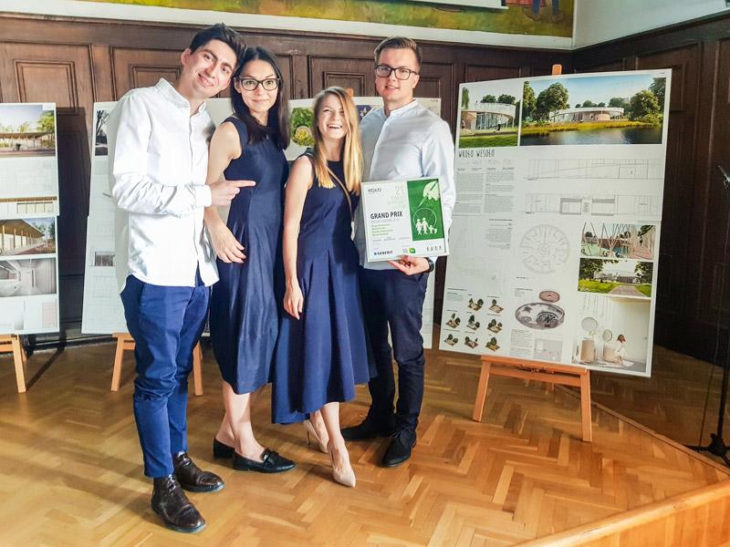 Autorzy zwycięskiego projektu: Michał Hondo, Kinga Grzybowska, Klaudia Gołaszewska, Marek Grodzicki