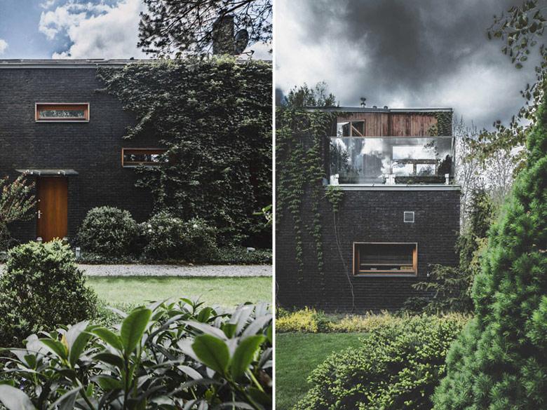 """Dom jednorodzinny """"Jungle House"""" pod Warszawą. Projekt: Pracownia Architektoniczna MAZM. Zdjęcia: Ignacy Matuszewski   minus osiem"""
