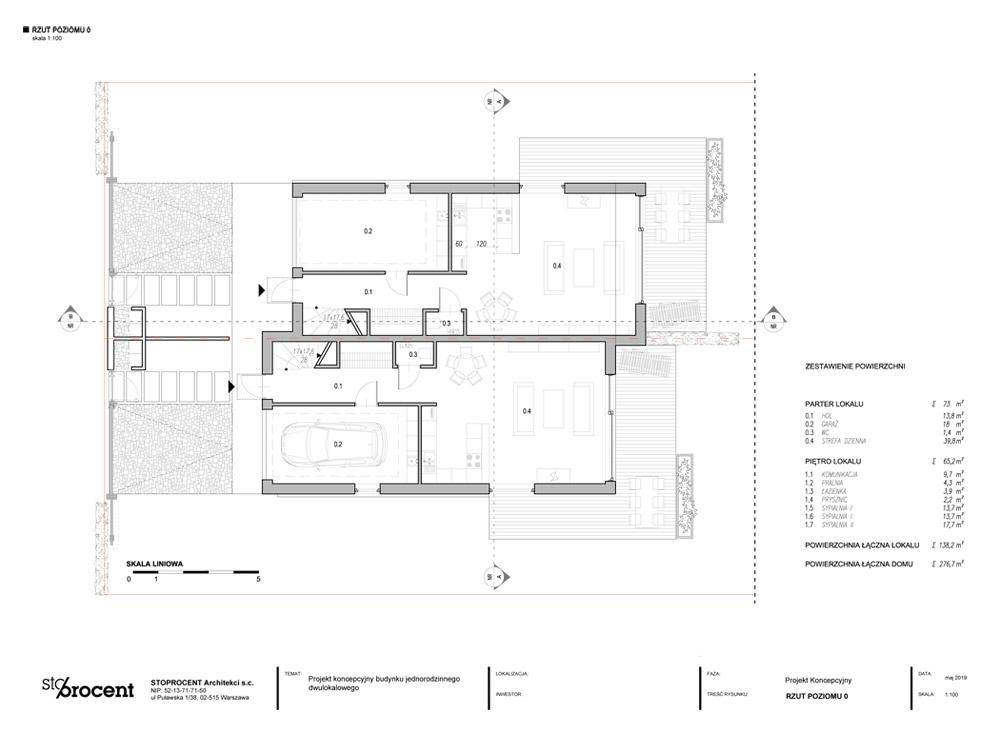 Osiedle małych domów dwulokalowych w Łomiankach, koło Warszawa. Projekt: STOPROCENT Architekci