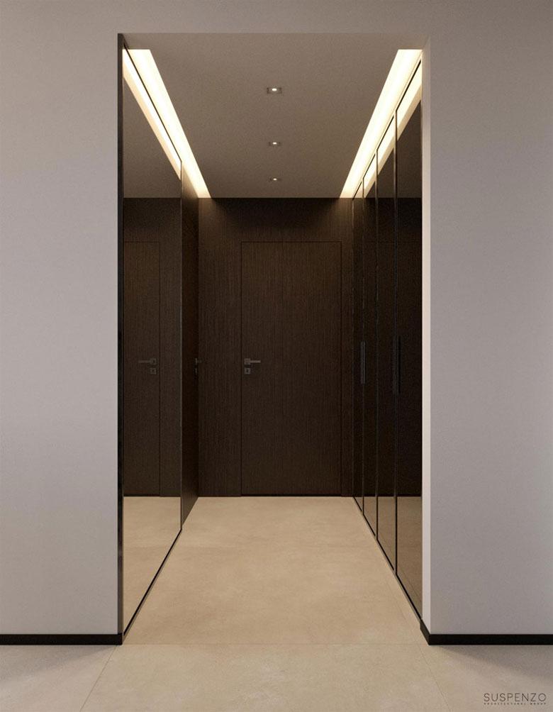 Wnętrza dwupoziomowego apartamentu w Warszawie. Projekt: Suspenzo Architectural Group. Zdjęcia: PragaP_suspenzo