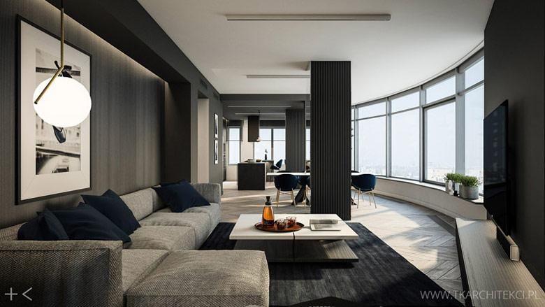 Apartament na Muranowie, Warszawa. Projekt wnętrz: TK Architekci