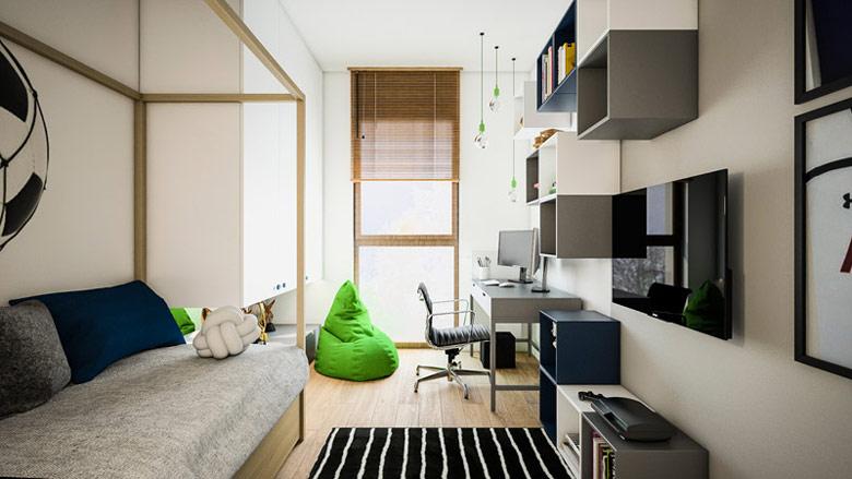 Wnętrza mieszkania w Warszawie. Projekt: TK Architekci